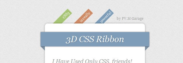 Nice 3D Ribbons Only Using CSS3