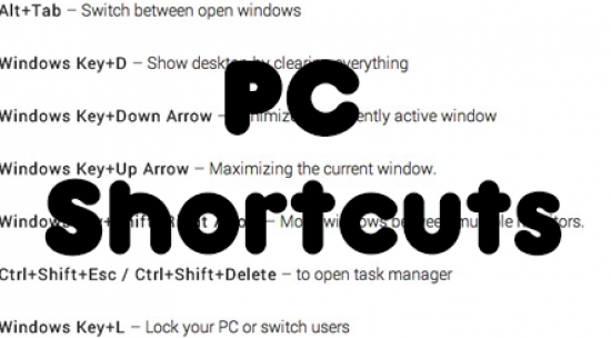 PC Shortcuts that are Heavily Useful