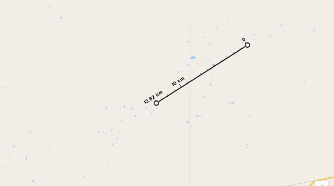 Work out Distances in Google Maps