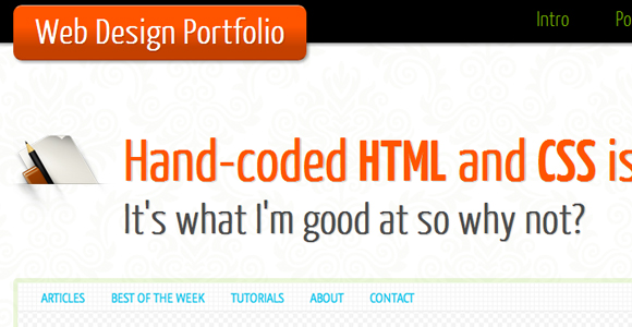 Single Page HTML5 or CSS3 Portfolio Template