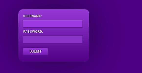 Slick CSS3 Login Form