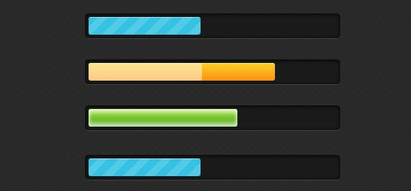 Stylish CSS3 progress bars