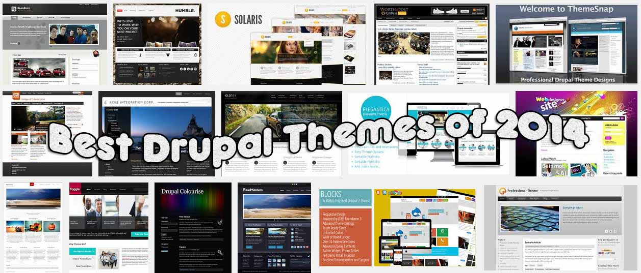 75 Best Free & Premium Drupal Themes of 2014