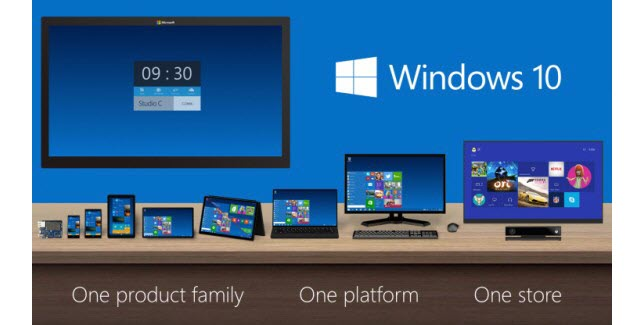 windows 10  one store , one platform, one product family