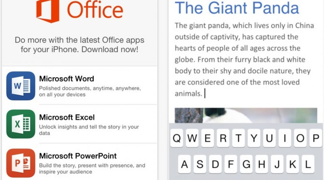 Download Microsoft Office in iPad, iPhone and Android for FREE