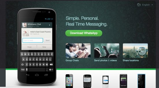 Now get Whatsapp for PC as a Web App - Official Release