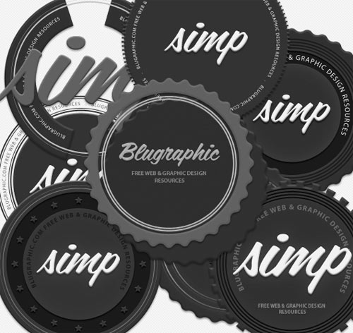 8 Circle Vintage Psd Badges (Vector  Psd)