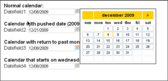 Calendar – Date Picker – Date Field