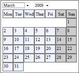 Calendar System