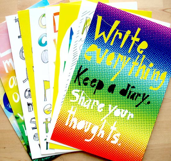 Colorful postcards for designers & bloggers | Post Card Quotes