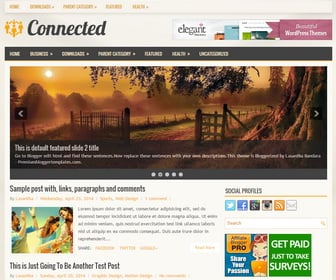Connected-Blogger-Template