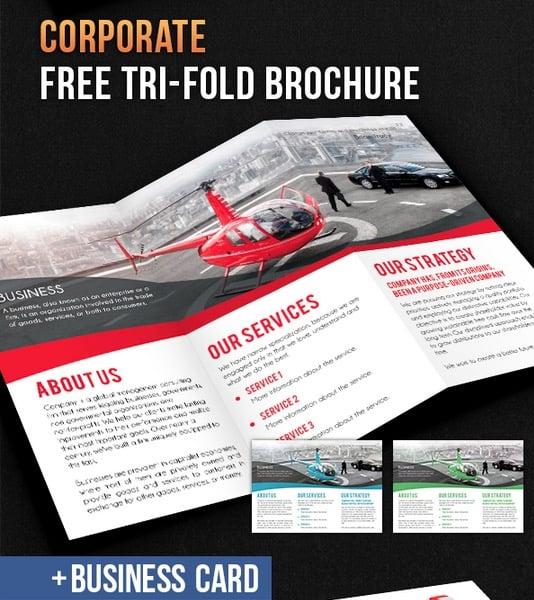 Corporate Tri-Fold Brochure – Free PSD Template