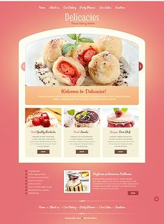 50 impressive designs of coffee cake and bakery websites delicacies - Web Page Design Ideas