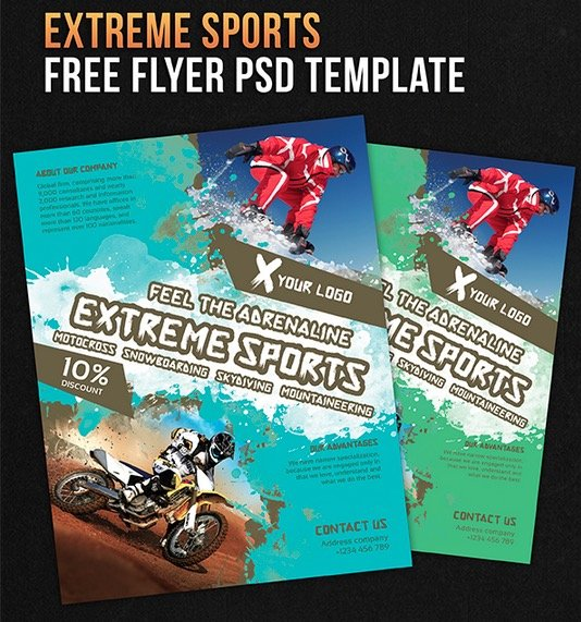 122 Free PSD Flyer Templates to make use of Offline Marketing – Free Sports Flyer Templates