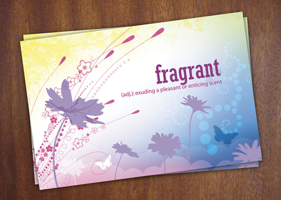Fragrant Postcard