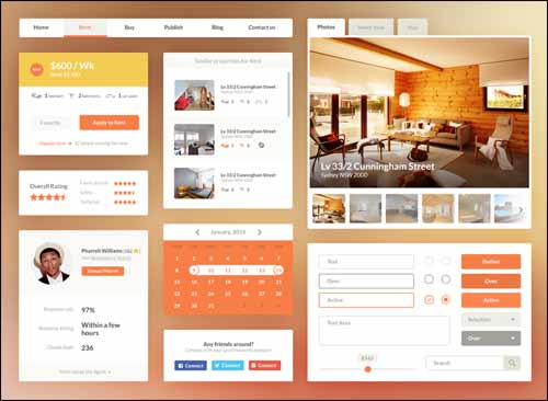 Free-UI-Kit-PSD-Real-Estate-Booking