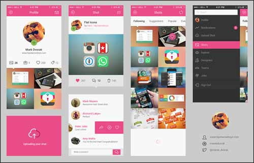 Free_Dribbble_App_Concept_Photoshop_PSD_UI_Kit