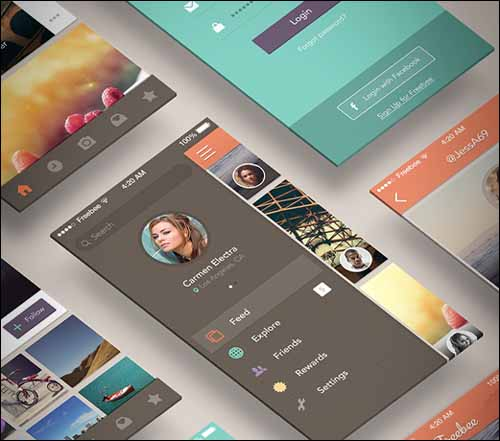 Freebee_App_Free_PSD_Photoshop_Menu_UI_Kit