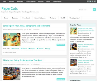 PaperCuts-Blogger-Template