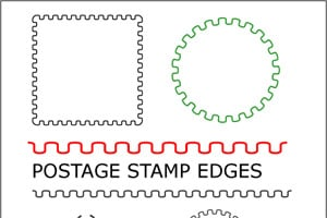 Postage Stamp Edge Brush
