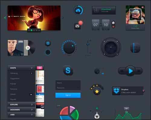 Putty_Free_Photoshop_PSD_UI_Kit