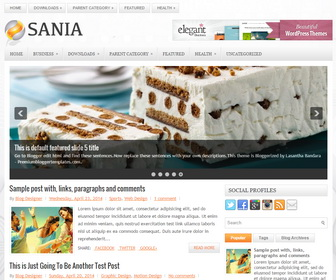 Sania-Blogger-Template