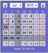 Simple Calendar Widget