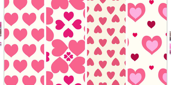 Sweetheart pattern repeats