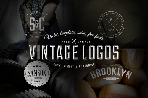 Vintage Logos  Badges – Vector Templates