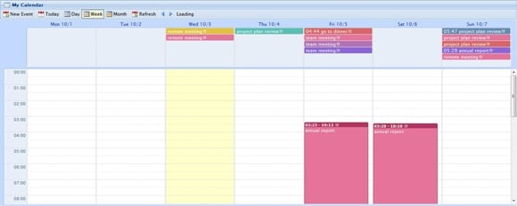 Wd Calendar – JQuery based Google calendar clone