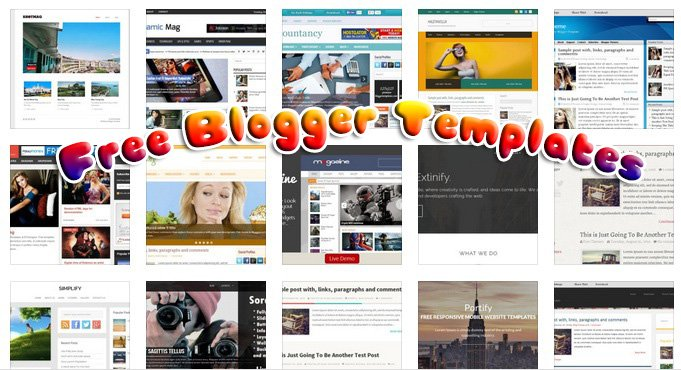 100+ Fresh Free Blogger Templates for Downloads