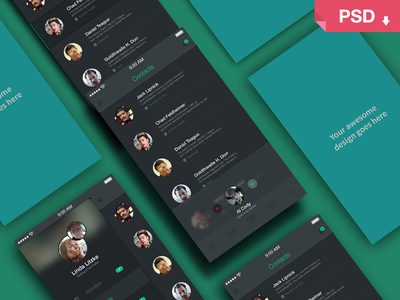 APP SCREENS PERSPECTIVE MOCKUP Templates