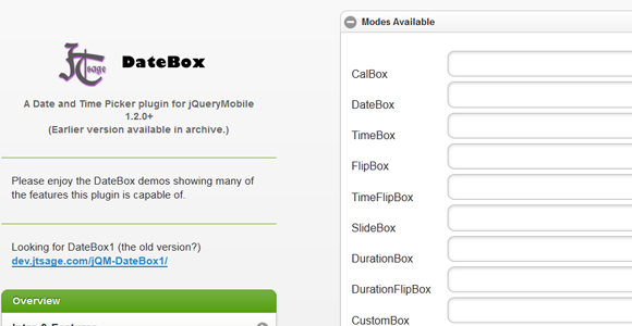 jQuery Mobile Date Box