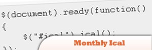 jQuery Monthly Ical Plugin