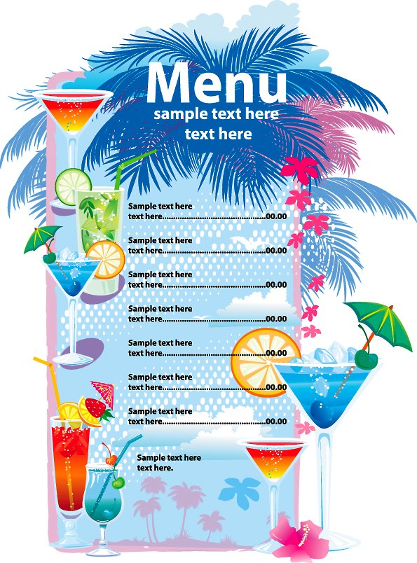 Doc800566 Free Printable Restaurant Menu Template Restaurant – Free Kids Menu Templates