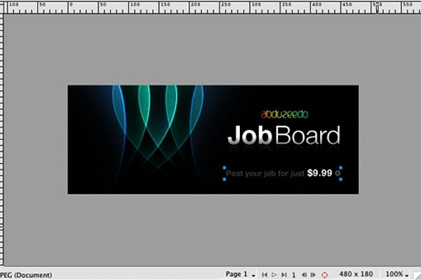 Abduzeedo Job Board Banner in Fireworks