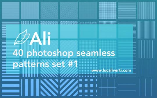 Ali 40 Photoshop seamless patterns