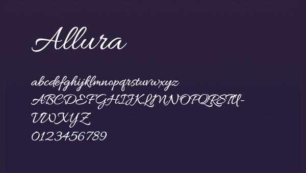 Allura by TypeSETit
