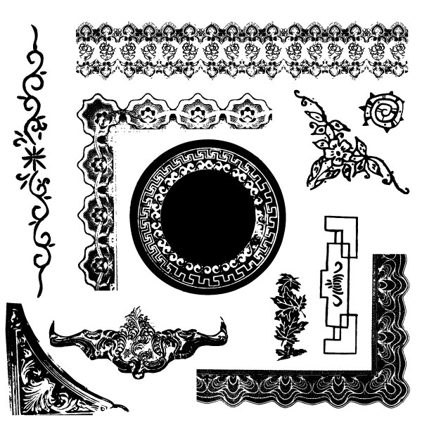 Antique Frames and Vector Ornaments