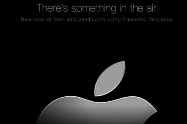 Apple Air Banner in Fireworks
