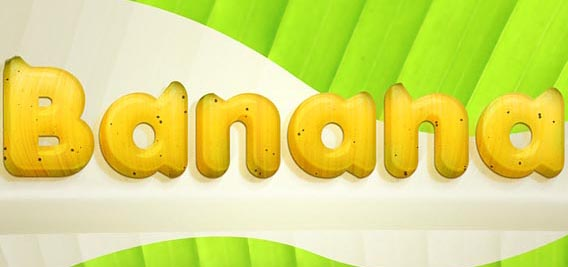 Banana style text effect