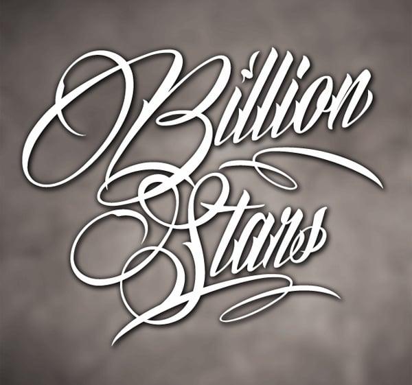 Billion Stars Font by Måns Grebäck