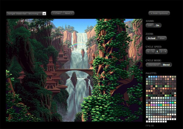 Canvas Cycle: Jungle Waterfall