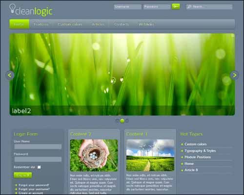 CleanLogic J3.x Free Joomla Template