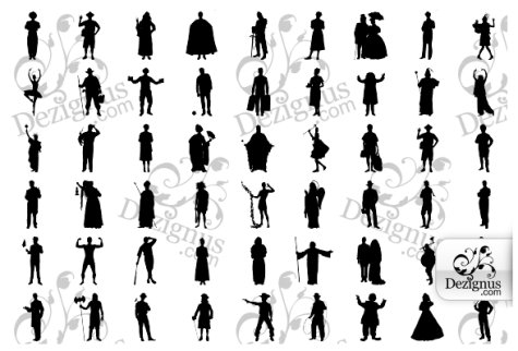 Costumes and Characters Shapes