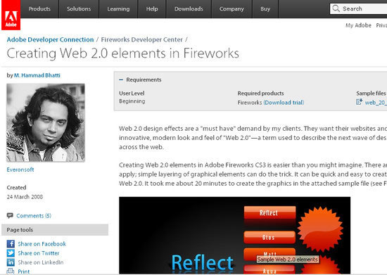Creating Web 2.0 elements