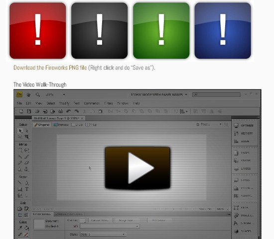 Creating a Glass Button in Adobe Fireworks CS4