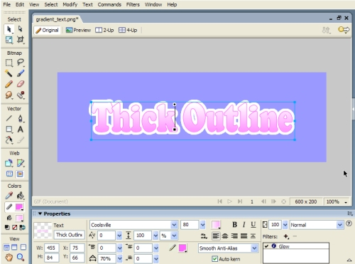 Creating a Thick Text Outline