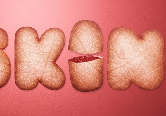 Design a Skin-Textured Typography Scene in Photoshop