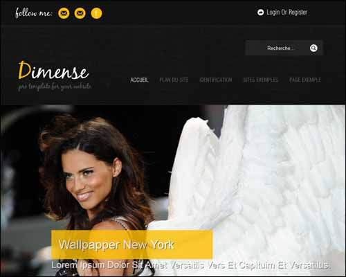 Dimense View Yellow Free Joomla Template